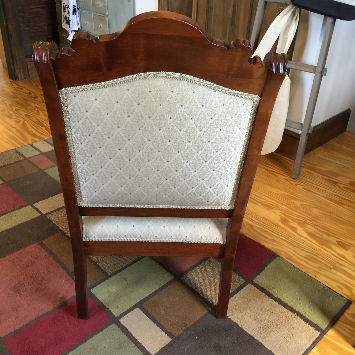 Antique Walnut Upholstered Chair