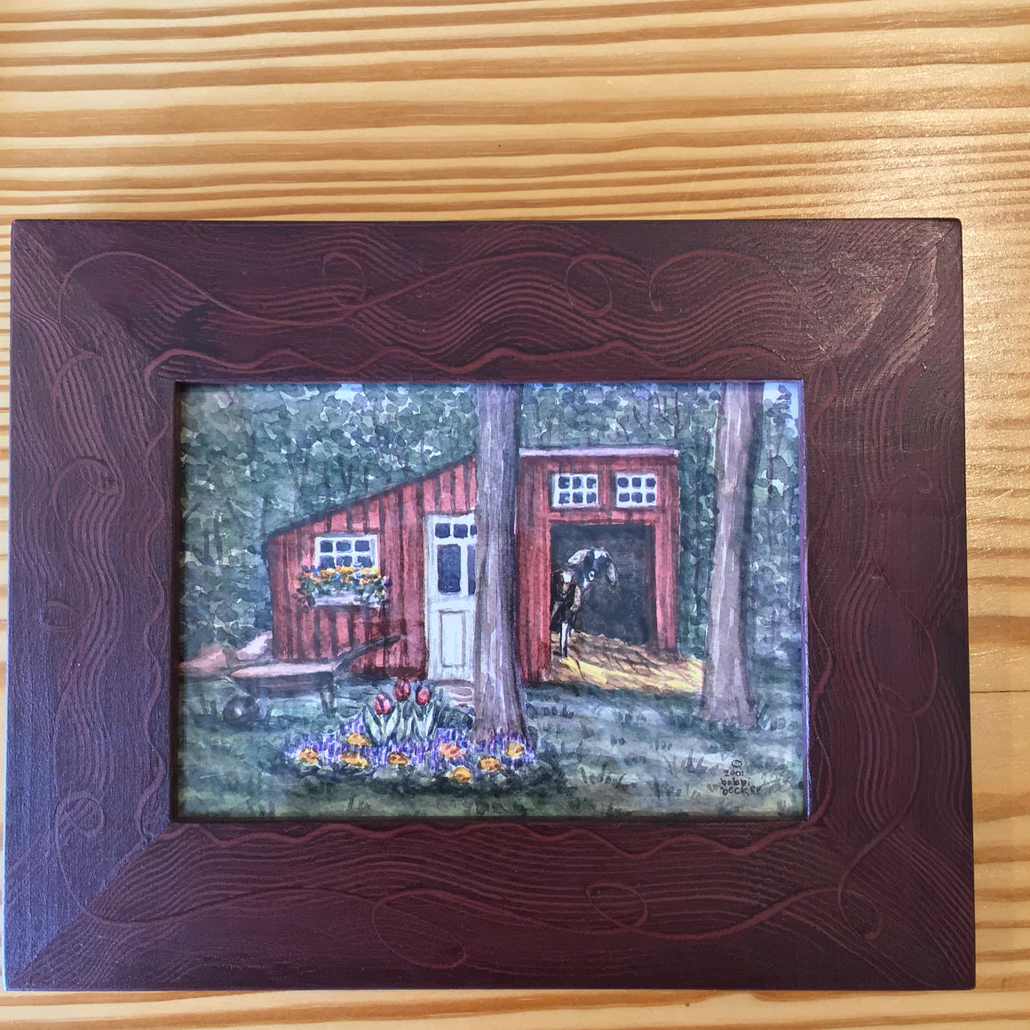 "Framed Print - ""Goat Shed"" by Bobbi Becker"