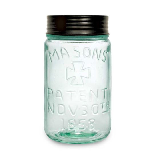 Mason Jar with Lid - Pint size - Green