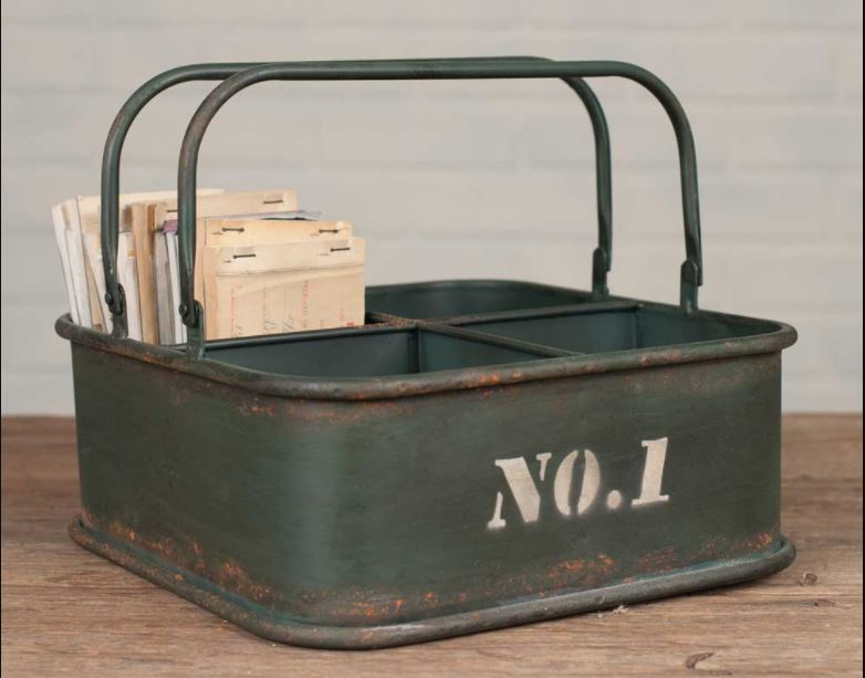 Metal No. 1 Square Bin
