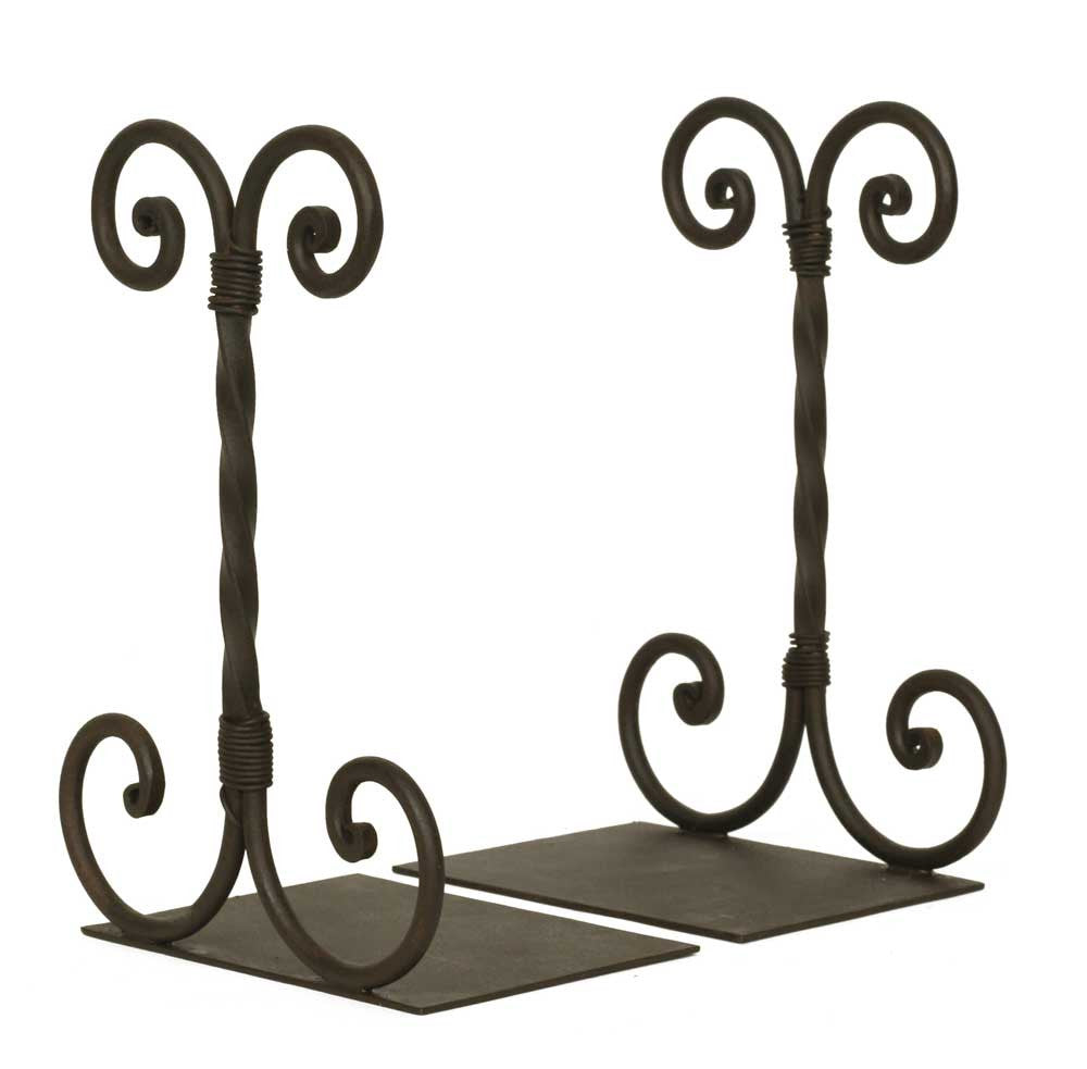 Bookends - Twirled Scroll Wrought Iron