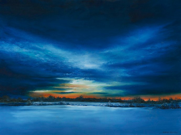"Cards - ""Winter Nightfall"" by Claire Howard"