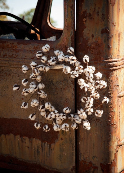Cotton Wreath - 22""