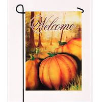 Garden Flag - Harvest Pumpkin Welcome