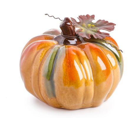 Glass Pumpkin Decoration
