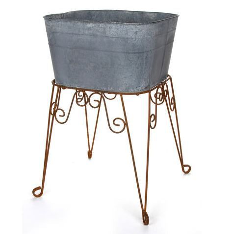 Metal Wash Tub on Stand