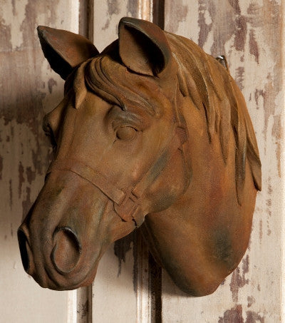 Estate Stone Horse Head