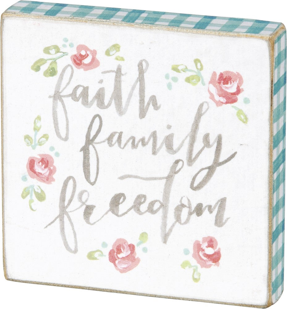 Block Magnet - Faith Family Freedom