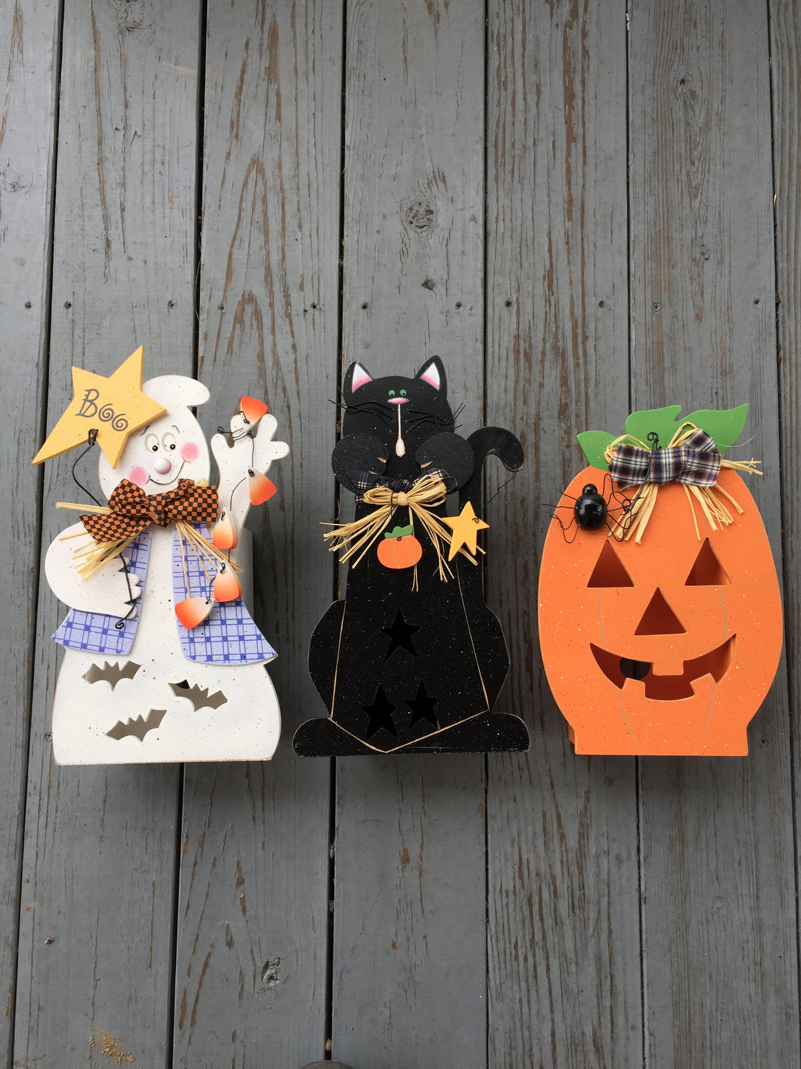 Halloween Light Boxes - Ghost, Black Cat, Pumpkin