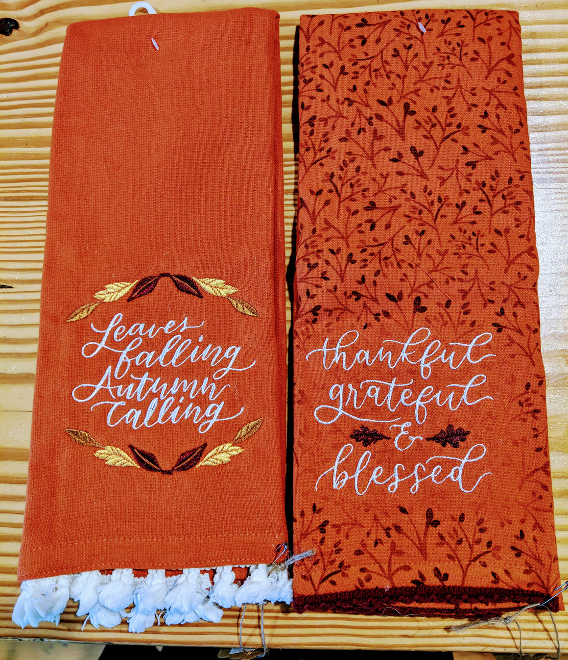 Hand Towels - Autumn Themed Hand Towels
