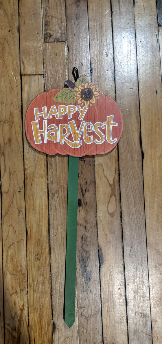 Garden Stake - Happy Harvest