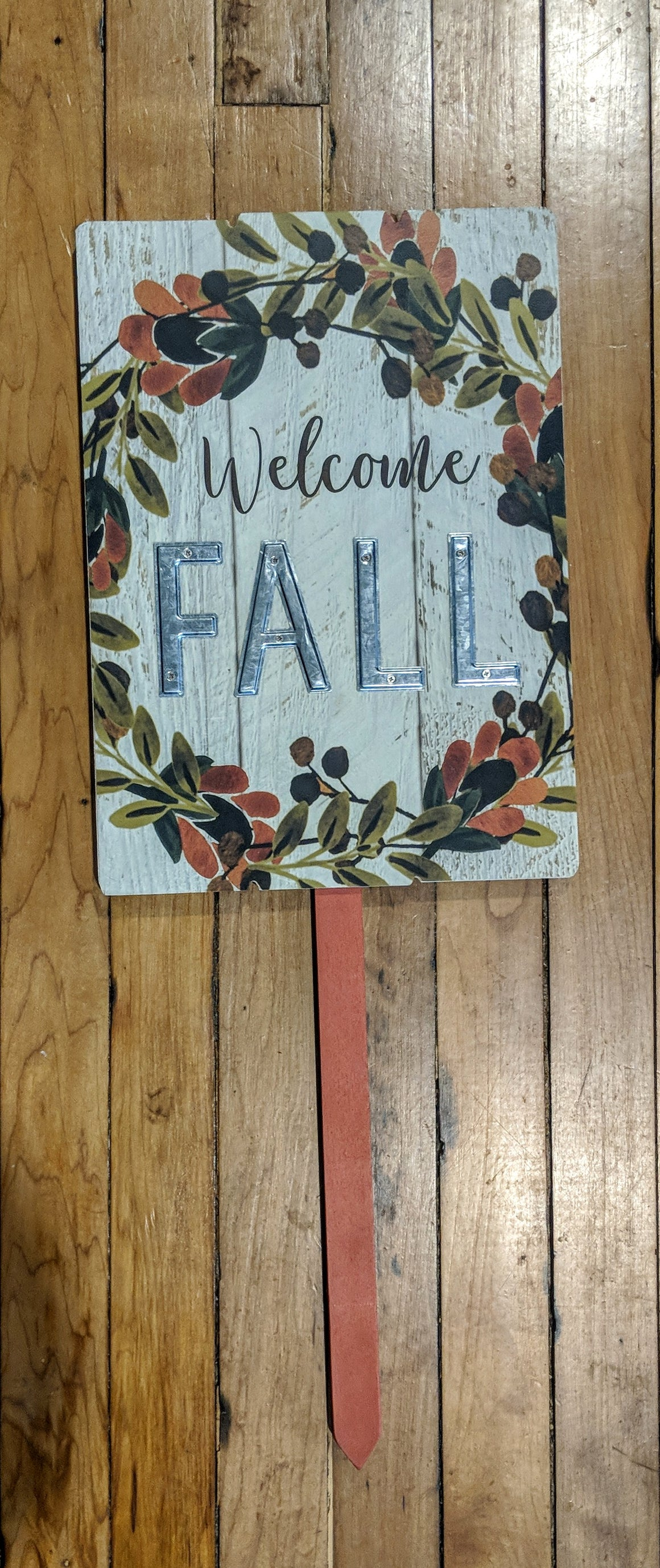 Garden Stake - Welcome Fall