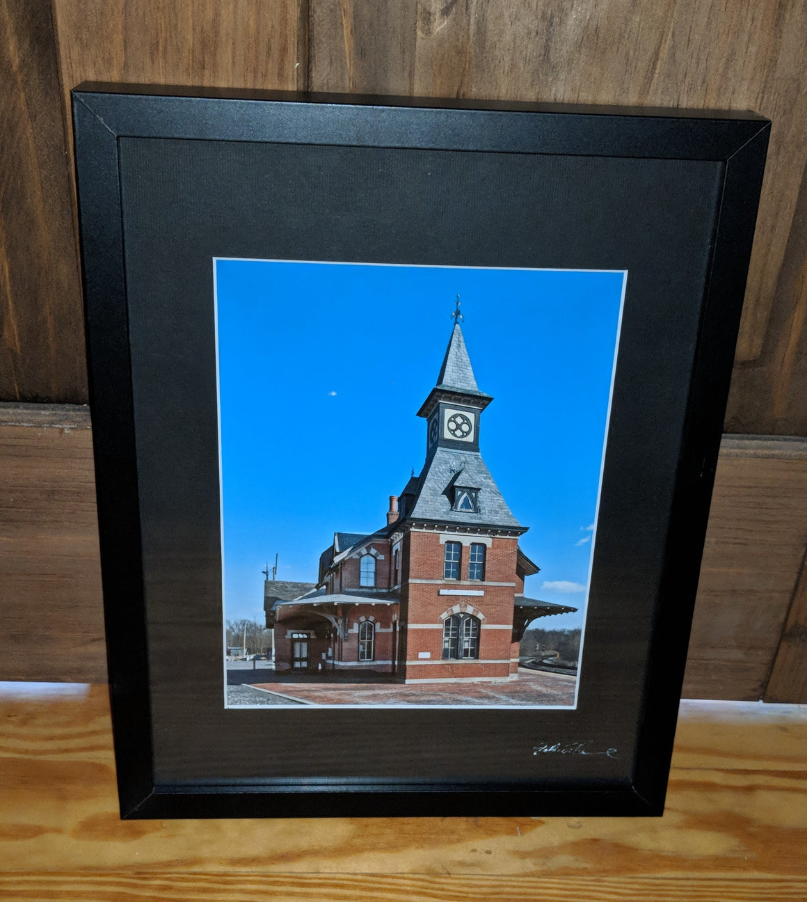 "Framed Photograph by James DeBuchananne - ""Train Station"""