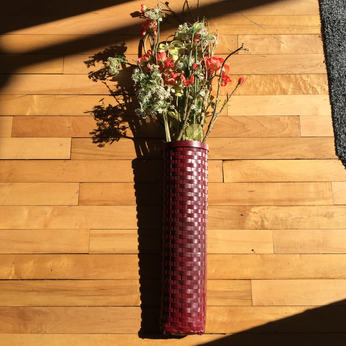 Tall Basket - Wall Hanging Basket with flowers