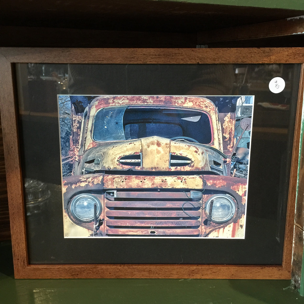 "Framed Photograph by James DeBuchananne - ""Rusty Yellow Truck"""