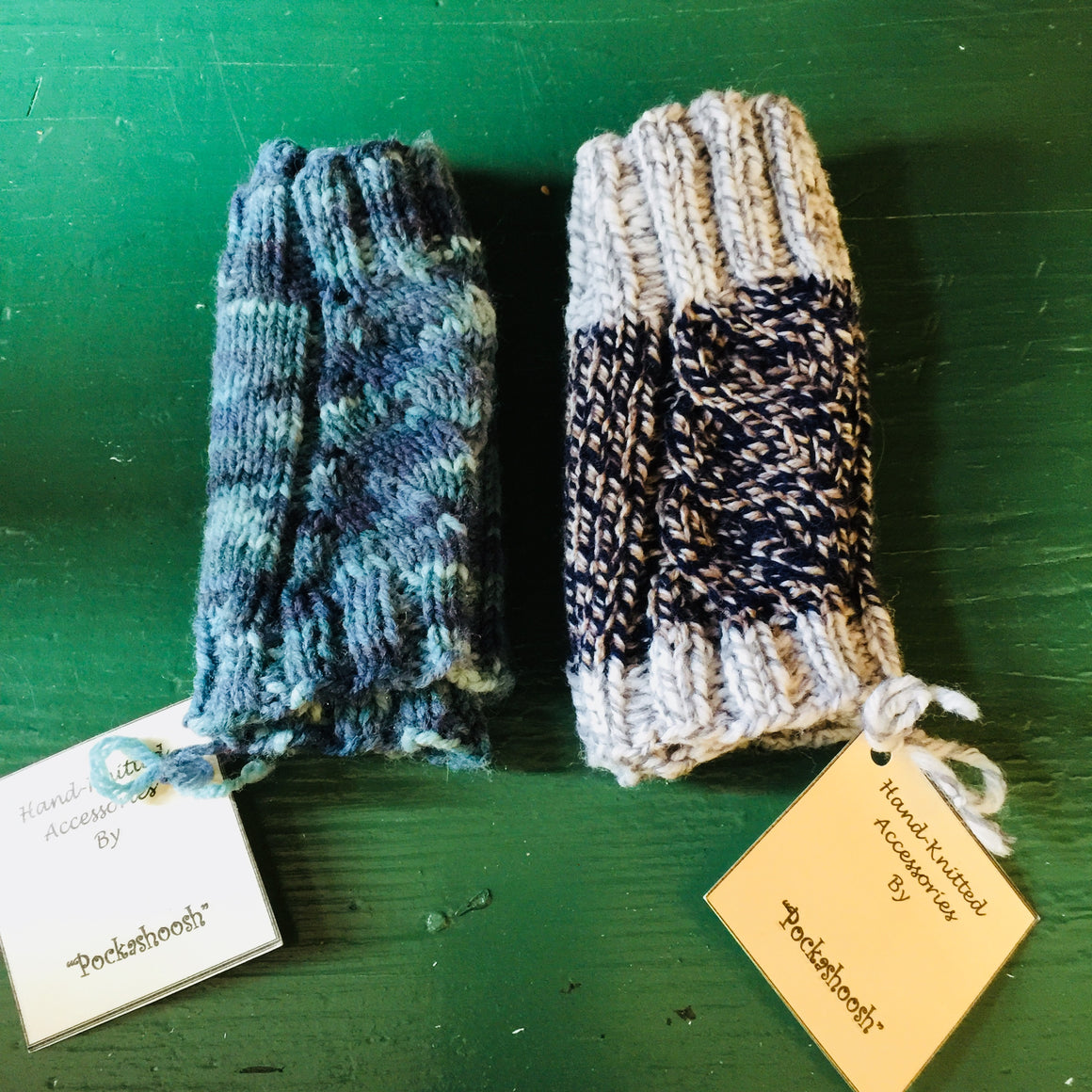 Hand-Knitted Wrist Warmers