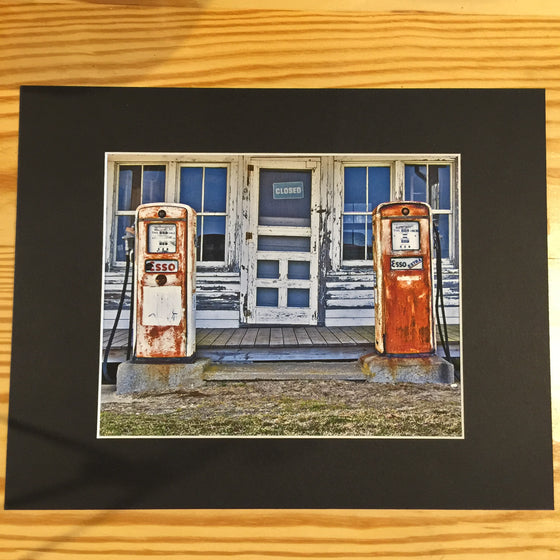 "Framed Photograph by James DeBuchananne - ""Old Gas Pumps"""
