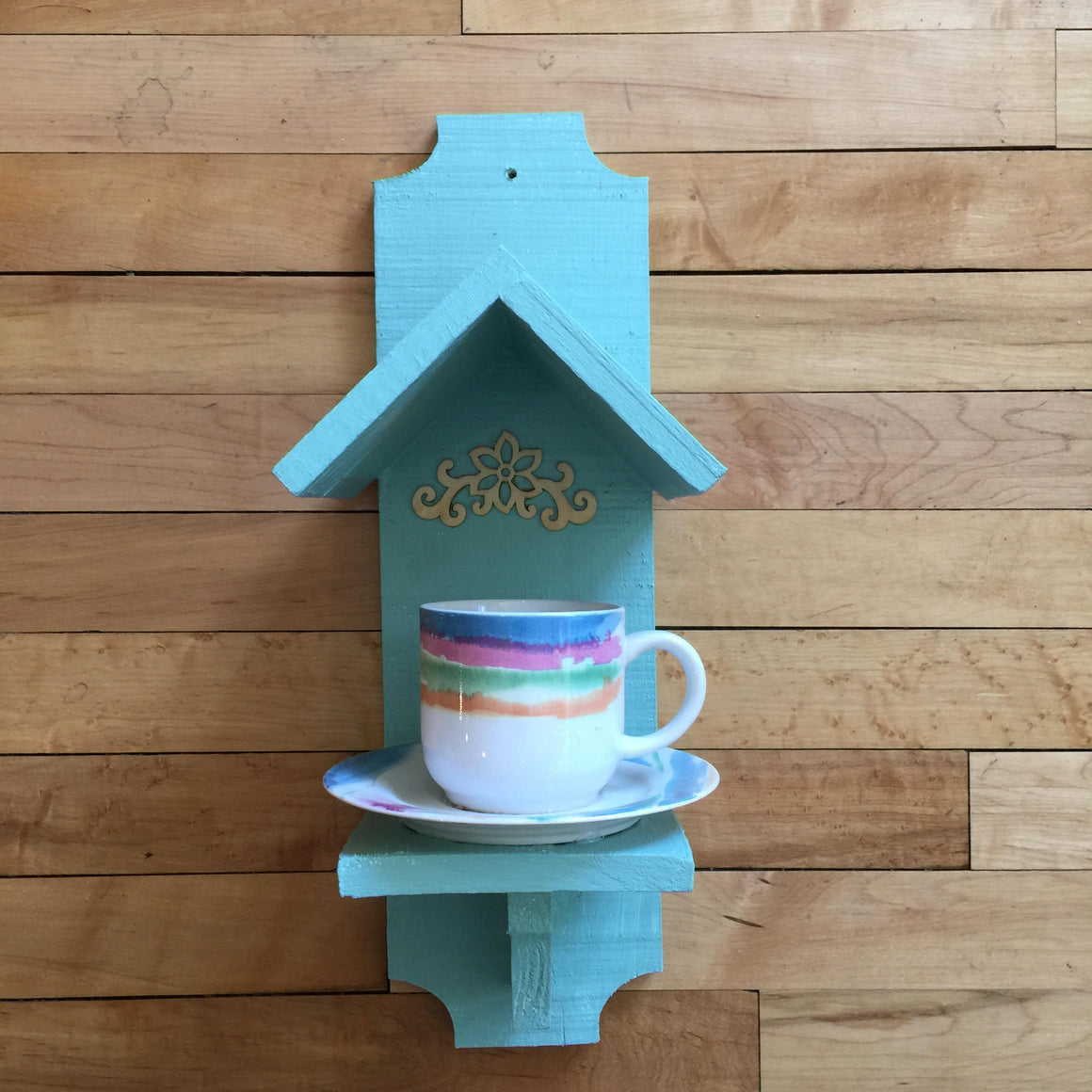 Tea Cup and Saucer Bird Feeder