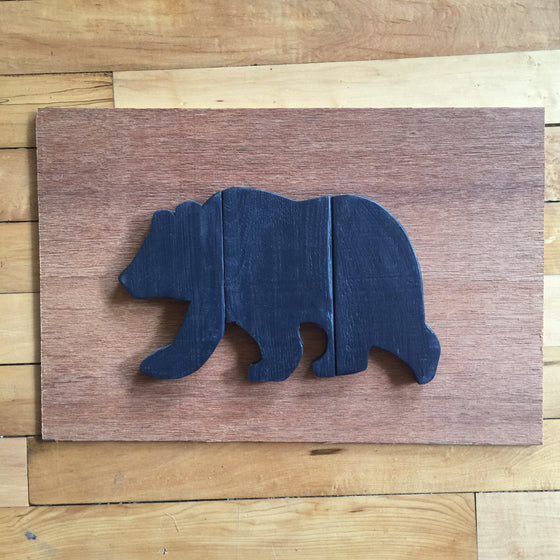 Wood Art Wall Hanging- Bear Board