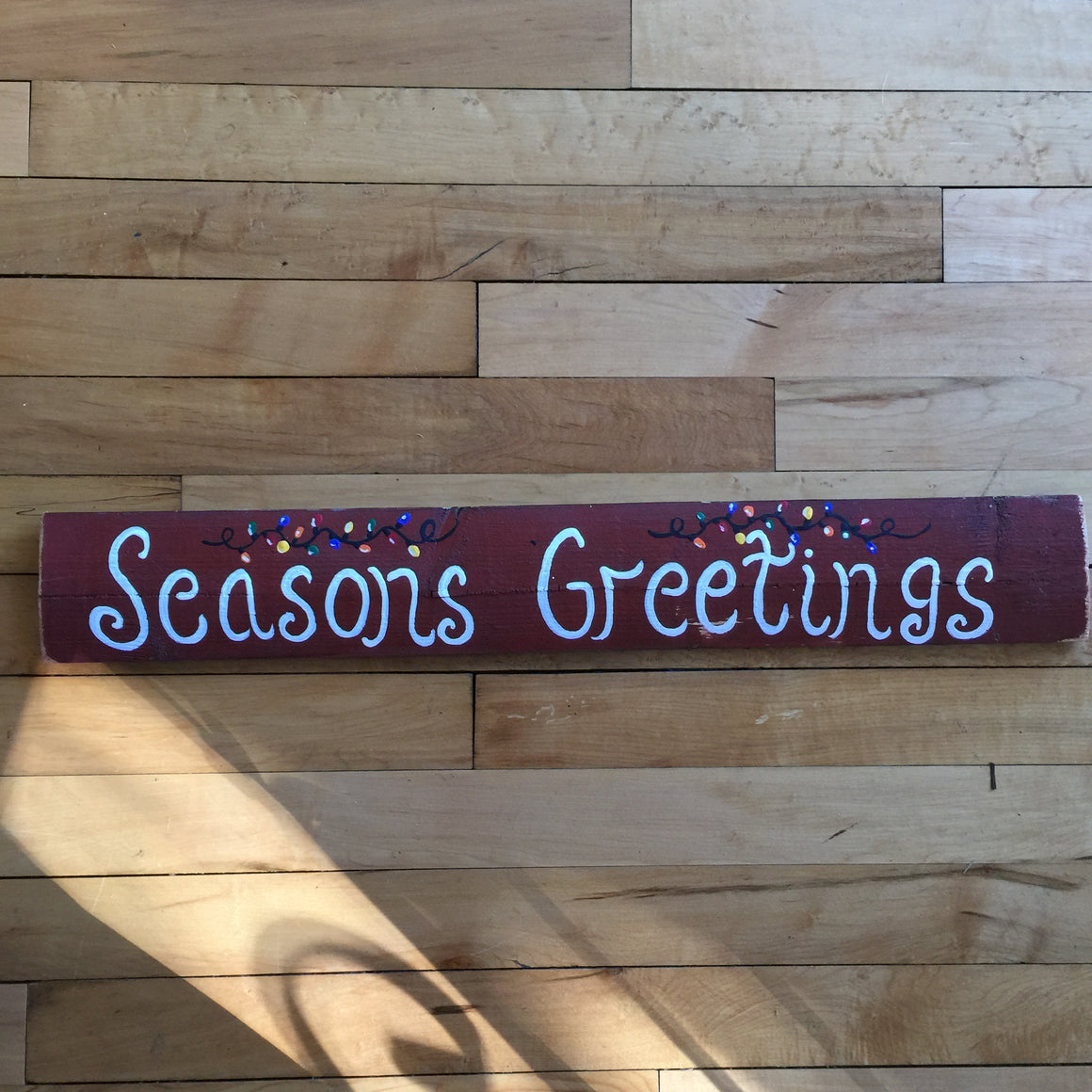 Wooden Hand-painted Holiday Greetings Signs