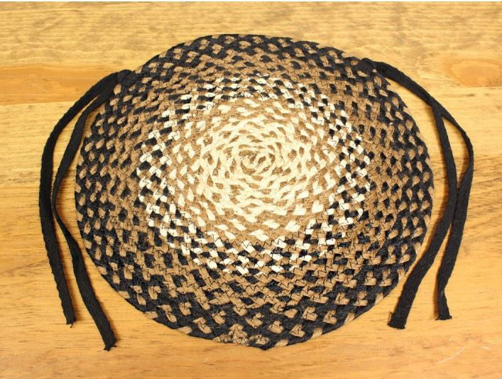 "Braided Chair Pad - 15"" - Stallion Pattern"