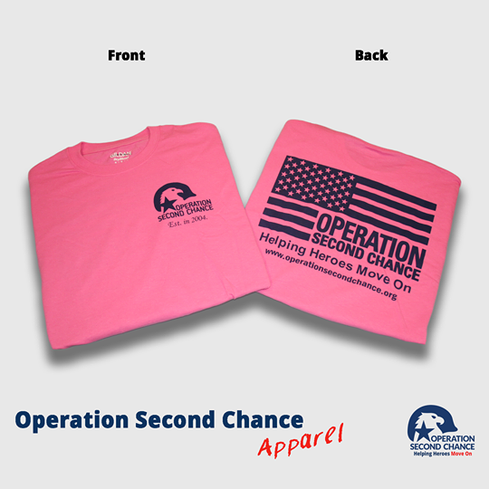 Osc Tee (Pink with Navy)