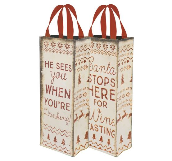 Wine Tote Bag - Holiday