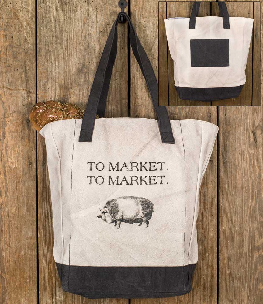 "Canvas Tote Bag - ""To Market"""