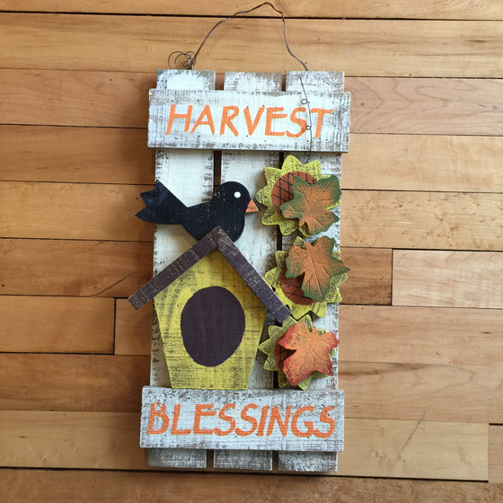 Wooden Sign - Harvest Blessings