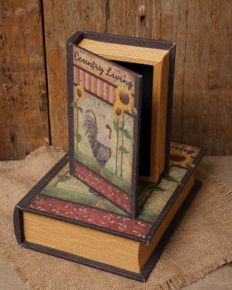 Book Boxes - Country Living Rooster