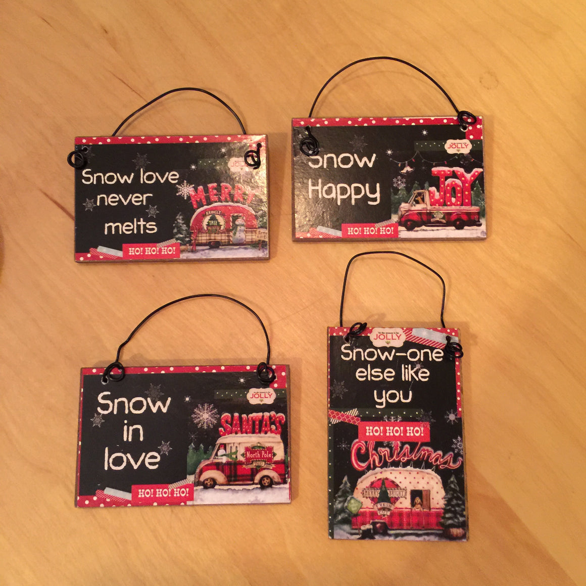 Ornaments - Mini Snow Themed Signs