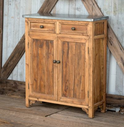 Zinc Top Farmhouse Cabinet