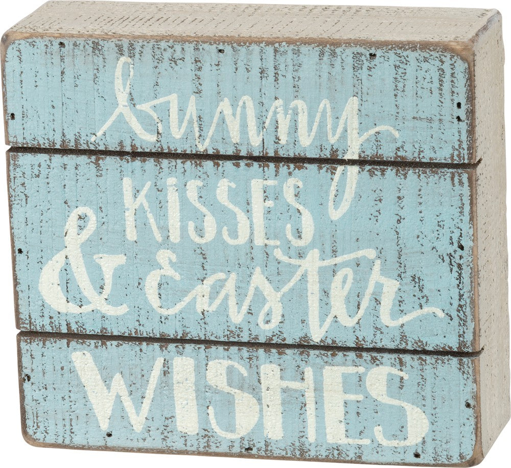Slat Box Sign - Easter Wishes