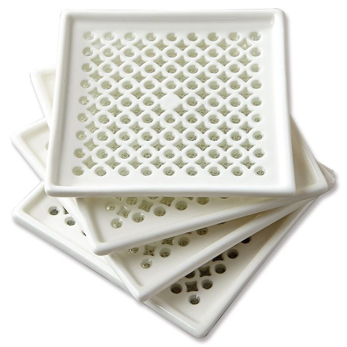 Coaster - Elegant Cutout White Ceramic