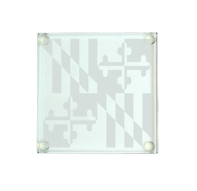 Maryland Flag Glass Coaster
