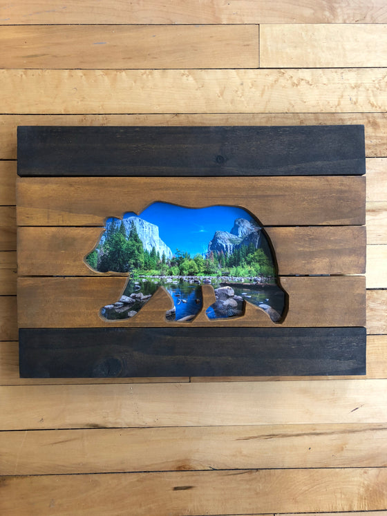 Wood Art Wall Hanging- Bear Yosemite