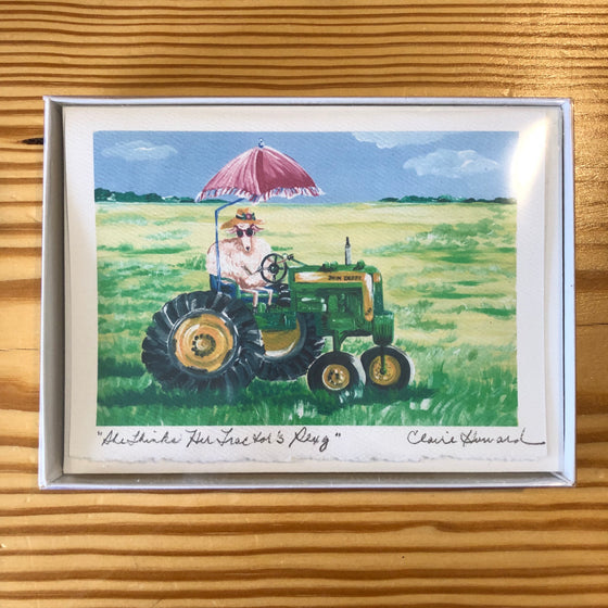 "Cards - ""She Thinks Her Tractor's Sexy"" by Claire Howard"