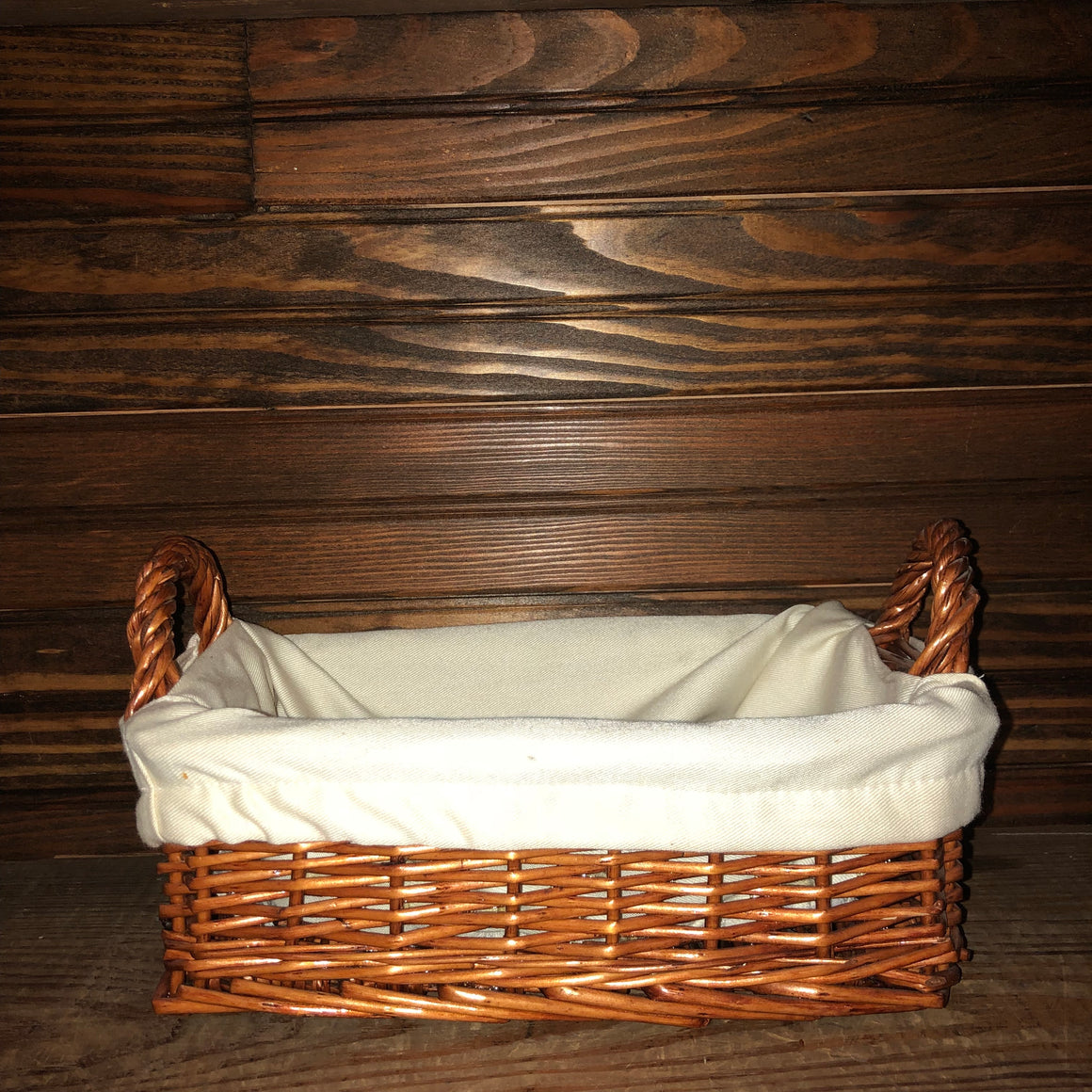 Basket- Small Lined Basket with Handles