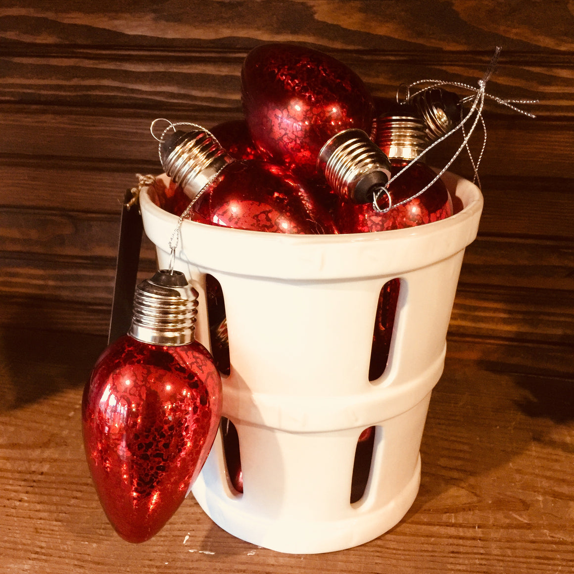 Ornaments - Vintage Red Bulb Style Ornaments