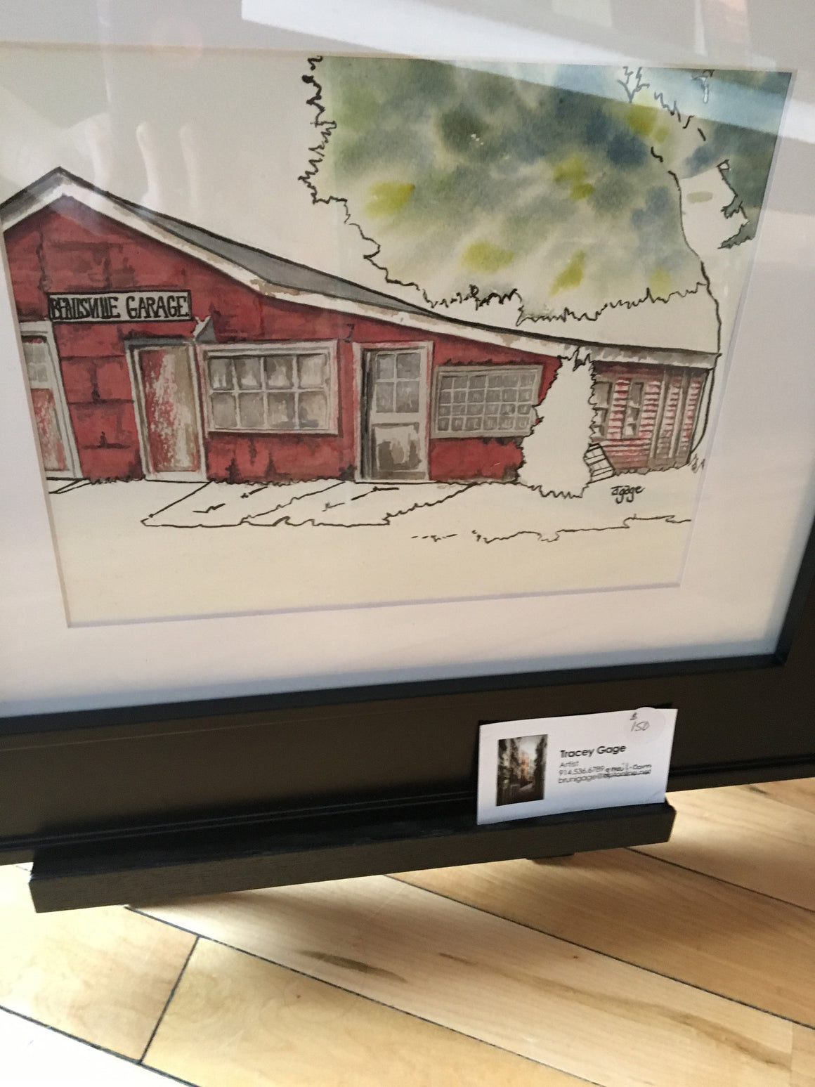"Framed Original Artwork - ""Beallsville Garage"" by Tracey Gage"