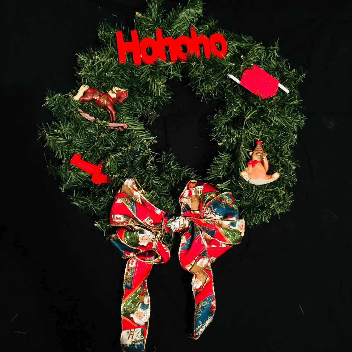 "Christmas Wreath - 17"" Toy Theme HoHoHo"