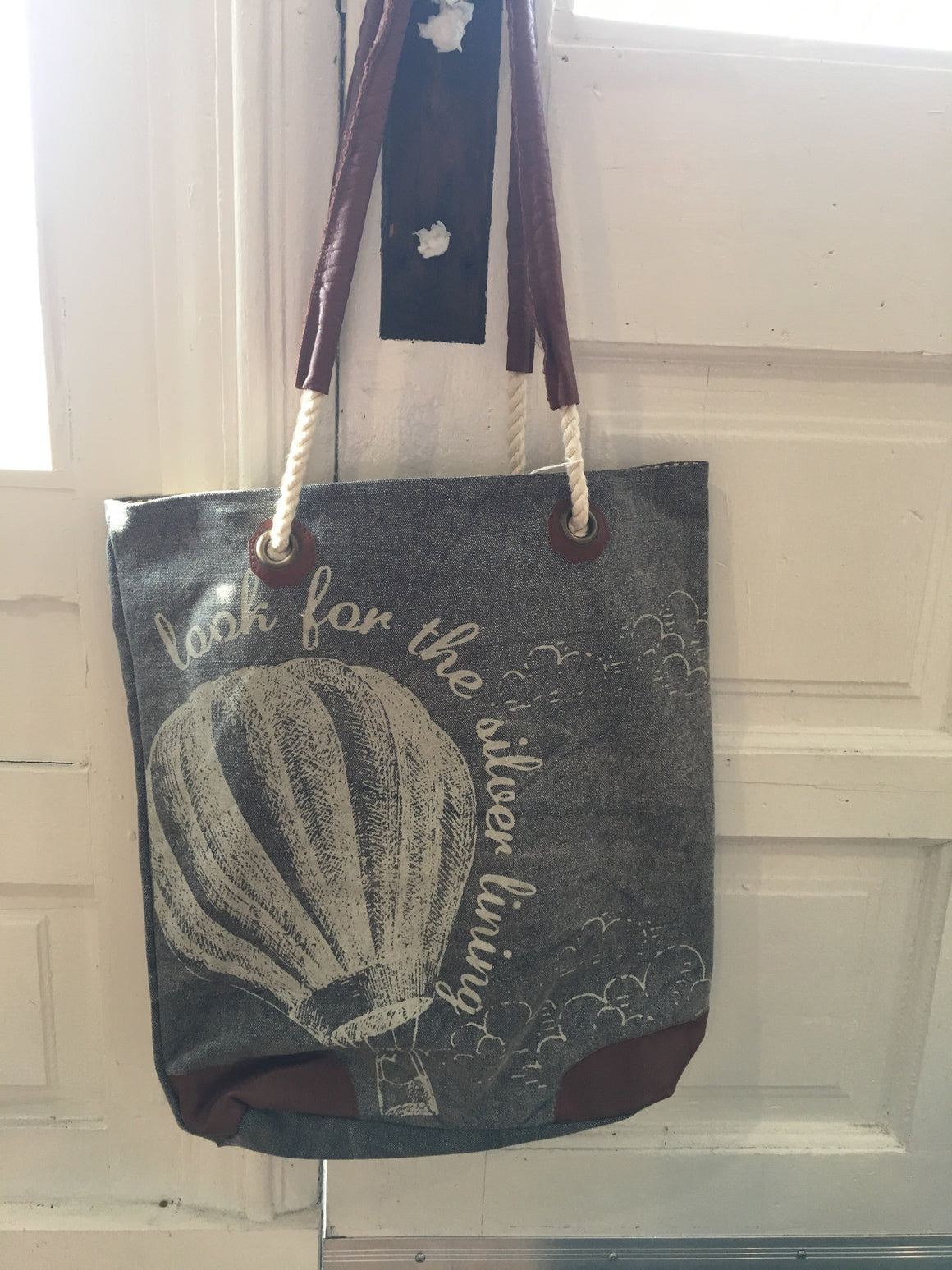 "Canvas Bag - ""Look For The Silver Lining"""