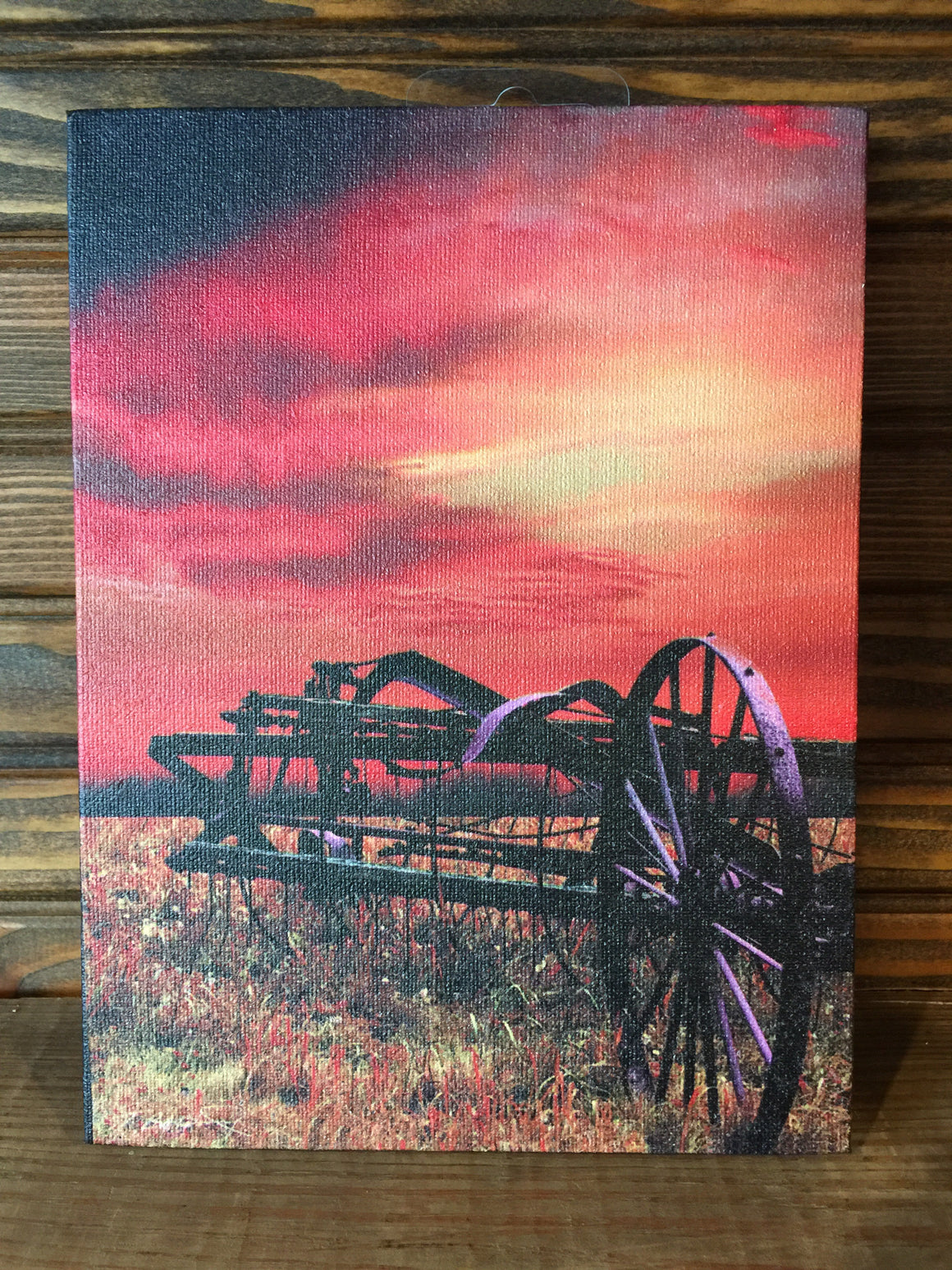 Canvas Print - Sunset Farm Scenes
