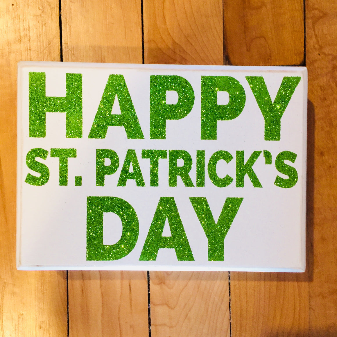 Box Sign - Happy St. Patrick's Day