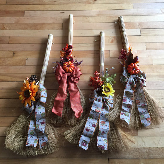 Autumn Broom Decorations