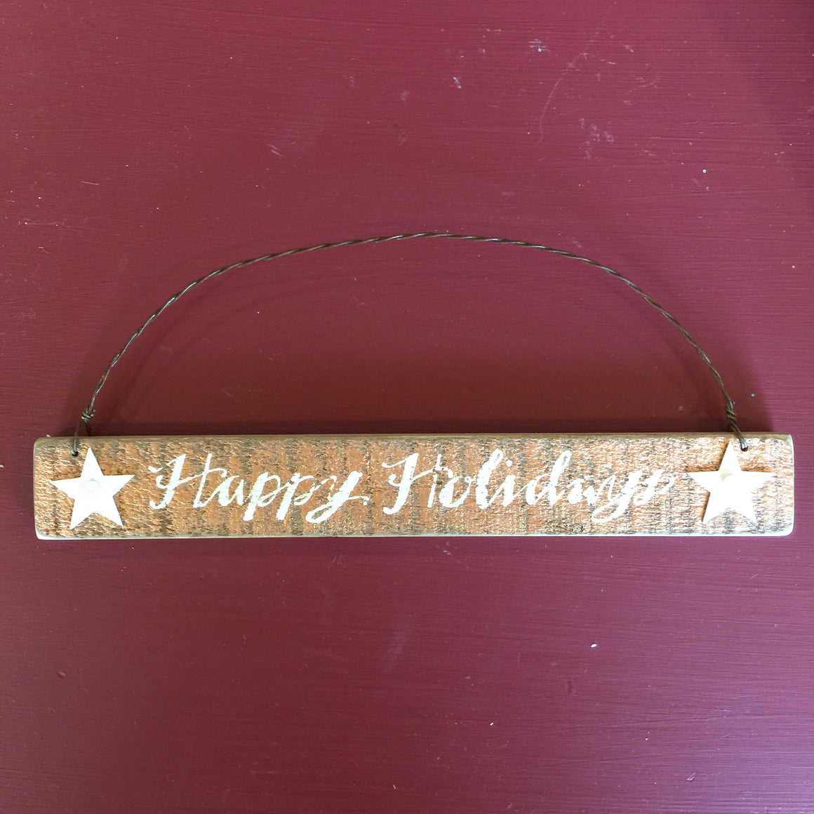 "Ornament - Wooden ""Happy Holidays"""