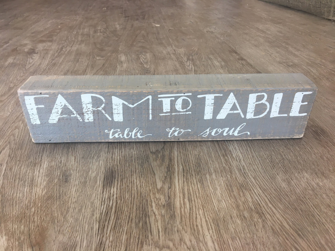 Box Sign - Farm to Table / Table to Soul