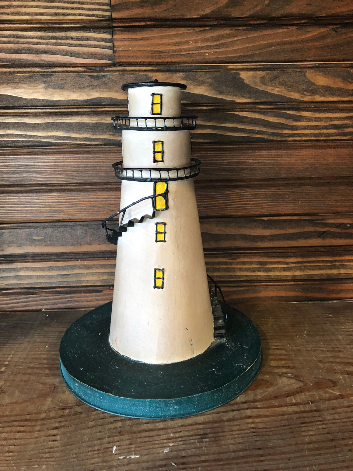 Metal Lighthouse Decor