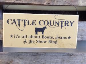 Wood Hanging Sign - Cattle Country