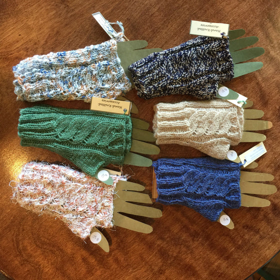 Hand-Knitted Fingerless Gloves